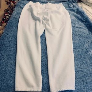 Under Armour White Loose fit wide leg sweat pant
